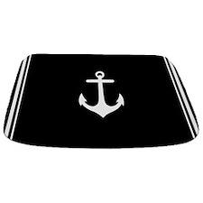 Nautical Black Anchor Bathmat