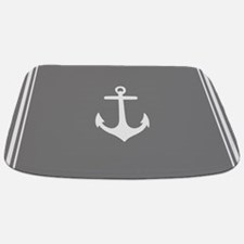 Nautical Grey Anchor Bathmat