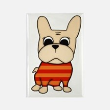 Cream Frenchie Rectangle Magnet