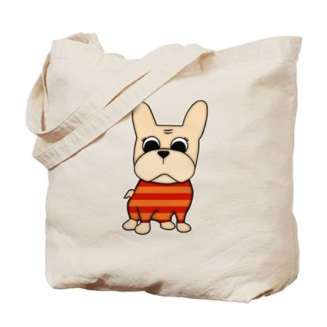 Cream Frenchie Tote Bag