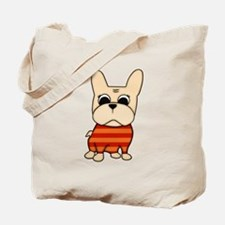 Cream Frenchie Tote Bag