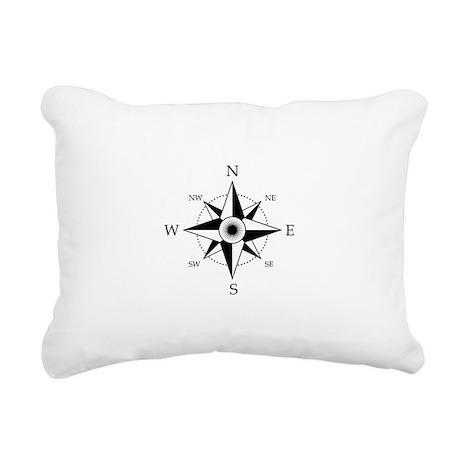 Compass Rose Rectangular Canvas Pillow