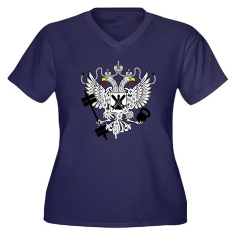 Crossfit Wod Coat Of Arms Women 39 S Plus Size V Neck Dark T