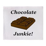 Chocolate Junkie Throw Blanket