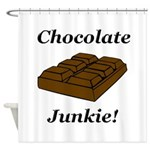 Chocolate Junkie Shower Curtain
