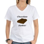 Chocolate Junkie Women's V-Neck T-Shirt