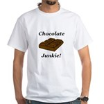 Chocolate Junkie White T-Shirt
