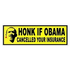 OBAMACARE HONK Bumper Car Sticker