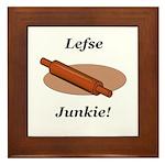 Lefse Junkie Framed Tile