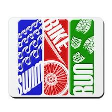 Triathlon TRI Swim Bike Run 3D Mousepad