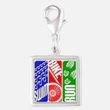 Triathlon TRI Swim Bike Run 3D Charms