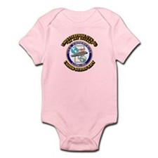 USS Enterprise (CVN-65) with Text Infant Bodysuit