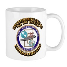 USS Enterprise (CVN-65) with Text Mug
