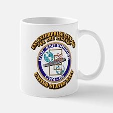 USS Enterprise (CVN-65) with Text Mug