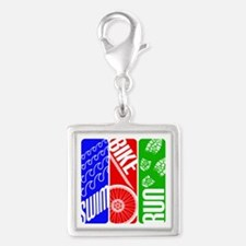 Triathlon TRI Swim Bike Run Charms