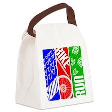 Triathlon TRI Swim Bike Run Canvas Lunch Bag