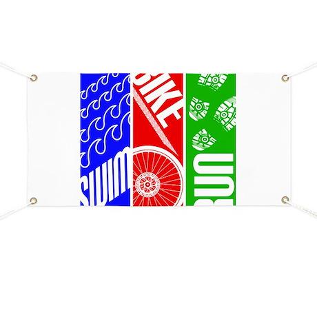 Triathlon TRI Swim Bike Run Banner