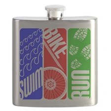 Triathlon TRI Swim Bike Run Flask