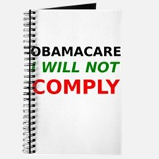Obamacare I Will Not Comply Journal