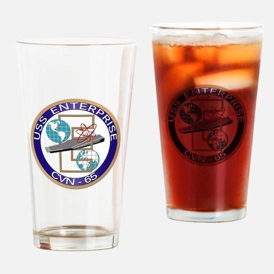 USS Enterprise (CVN-65) Drinking Glass