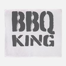 BBQ king Throw Blanket