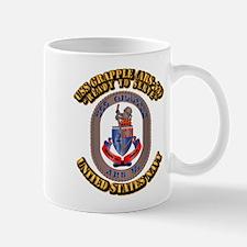 USS Grapple (ARS-53) with Text Mug