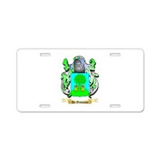 De Giovanni Aluminum License Plate