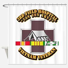 DUI - 3rd Field Hospital w SVC Ribbon Shower Curta