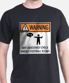 Checks Fantasy Football Scores T-Shirt