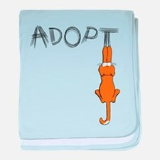 Adopt Cats Rusty™ baby blanket
