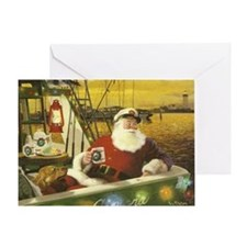 Boat santa Greeting Card