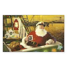 Boat santa Decal