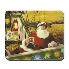 Boat santa Mousepad