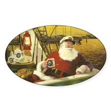 Boat santa Decal