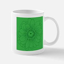 Green Daisy Flower Mugs