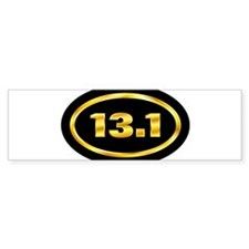 13.1.Gold on black oval Bumper Bumper Sticker