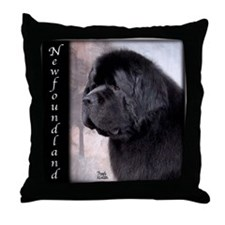 Newfoundlands Throw Pillow