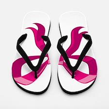 Pink Ribbon Flip Flops