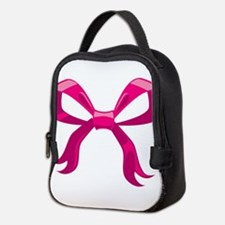 Pink Ribbon Neoprene Lunch Bag