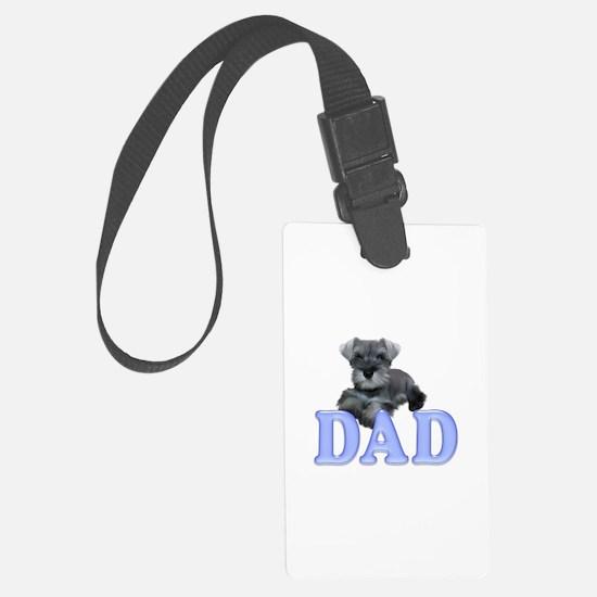 Schnauzer Dad Luggage Tag