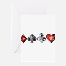 Poker Gems Greeting Cards