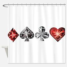 Poker Gems Shower Curtain