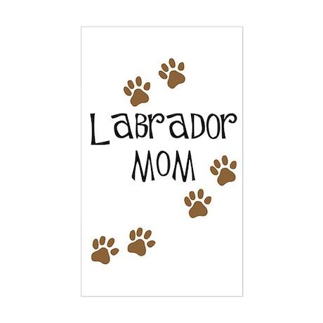 Labrador Mom Rectangle Sticker