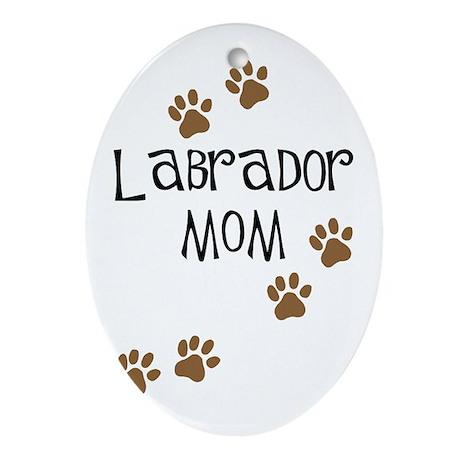 Labrador Mom Oval Ornament