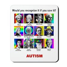autism aspergers Mousepad