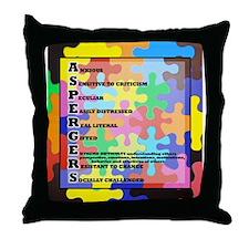 autism aspergers Throw Pillow