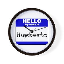 hello my name is humberto  Wall Clock