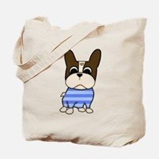 Pied Frenchie Tote Bag