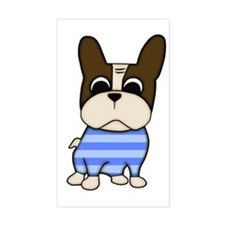Pied Frenchie Rectangle Decal