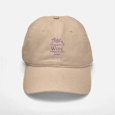 Age And Glasses Of Wine Baseball Baseball Cap